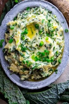 Cheddar Horseradish Colcannon. It's made with creamy mashed potatoes, Vermont cheddar cheese, garlicky kale, fresh dill, scallions and sweet cream butter! It is a delicious twist on a Saint Patrick's Day classic! Gluten-free, Vegetarian. @healthyseasonal