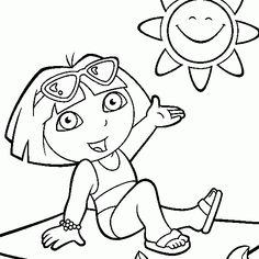 Dora The Explorer Free Printables Coloring Pages Kindergarten Quote Colouring Kindergartens Books Preschool