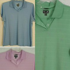 Adidas climacool polos Will sell all three as bundle for $32 or make me a reasonable offer! Please see individual listings in my closet for details on each item! Adidas Tops Tees - Short Sleeve