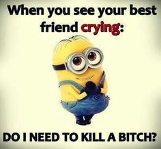 My bff, isn't one to cry but either way I do like this
