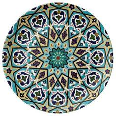 Turkish Moroccan Persian Asian Iznik Mosaic Tiles Porcelain Plate