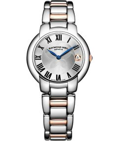 Raymond Weil Jasmine Ladies 35 mm Stainless Steel and Rose Gold quartz watch.