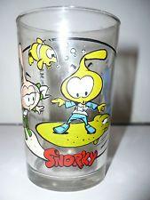 Verre à moutarde Les Snorky N°5 - vintage glass snorks or diskies