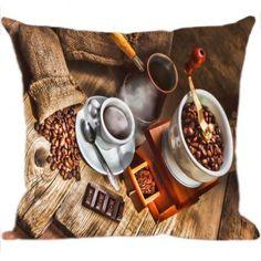 Almofada Digital Café com estampa exclusiva vintage. Produzida em tecido brilhoso e acabamento em zíper invisível vale a pena conferir ! www.luisadecor.com.br