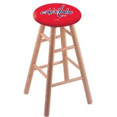 "Holland Bar Stool NHL 30"" Bar Stool with Cushion Finish: Natural, NHL Team: Washington Capitals"