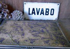 plaque émaillée Lavabo 1