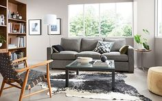 Mom inspr Room & Board - Morrison Sofa in Tepic Charcoal Fabric