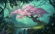 The Tree of Wishes, Selene Regener on ArtStation at http://www.artstation.com/artwork/the-tree-of-wishes