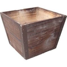 """Cheungs Square Wooden Planter Size: 6"""" H x 5.5"""" W x 5.5"""" D"""