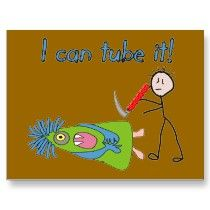 "Respiratory Therapy Gifts ""I Can Tube it!"" Postcards by ProfessionalDesigns"