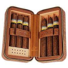 COHIBA Croco Leather Travel Humidor – Nearest Gift Shop    It's an exclusive choice as cigar case, can be placed 6 cigars with a humidifier. High-Quality leather / %100 Cedarwood #cigar #cigarcase #leather #cigarlife #smoker #cigaraficionado #cigarsociety #cigarsnob #cigarworld #cohiba #luxury #cuban #habanos #cigarcollector #cigars #entrepreneurship