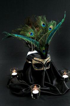 Masquerade Themed Centerpiece