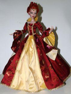 """Enchanted Court Gown for 16"""" Deja Vu Dolls Tonner"""