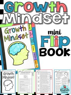 Growth Mindset Flip Book: Foster a growth mindset in your students with this mini flip book. It includes 6 taps to helps students understand what a growth mindset is and activities to help them create and maintain a growth mindset. Social Emotional Learning, Social Skills, Social Work, Beginning Of School, Middle School, School Kids, Habits Of Mind, 7 Habits, Growth Mindset Activities