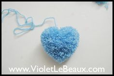 Heart Pom Pom Tutorial by Violet LeBeaux, via Flickr