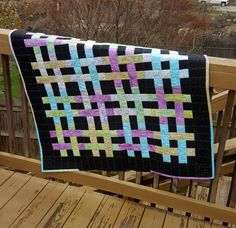 Weave It To Be Quilt Family Crafts, Black Cotton, Pot Holders, Weave, Quilts, Sewing, How To Make, Color, Dressmaking
