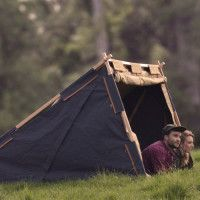 Under Cover Camper Affordable Two Person Canvas Tent   Cool Material