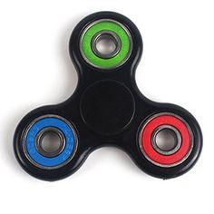 Jouet de détente de stress Spinner, Tri-Spinner Jouet Fidget Jouet 3D Céramique d'exécution de jouet EDC pour le temps de tuer: Idéal pour…