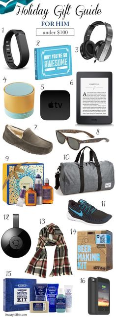 Racking your brain for what to give the special guys on your holiday list? Check out 16 stocking stuffers and holiday gift ideas for men under $100 that are sure to be major winners!