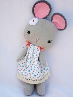 Nina Handmade Mouse Girl Doll - sweet craft inspiration