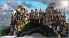 Tropical Sandstone Castle Minecraft Project