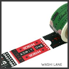 Washi Tape Cinema Tickets 30mm X 10M Admit ONE Pass Thick Wide Masking Tape | eBay