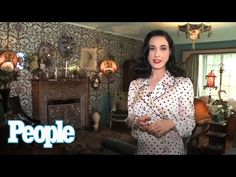 Dita Von Teese's Home Tour / Massive Shoe Collection | People - YouTube