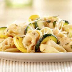 Three Cheese Tortellini with Summer Squash