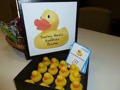 Music Games   Music Class Ideas: Ducky Music Symbol Game