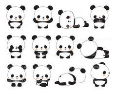 Resultado de imagen para kawaii pandas