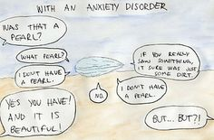 The way anxiety can overshadow the positive aspects of our lives. | 24 Comics That Capture The Frustration Of Anxiety Disorders