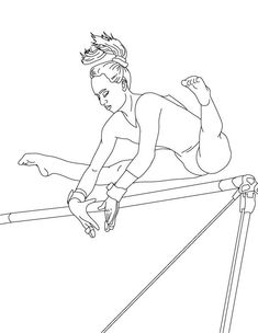 Free Printable Gymnastics Coloring Pages