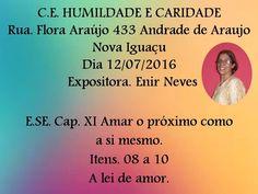 Centro Espírita Humildade e Caridade Convida para a sua Palestra Pública - Nova Iguaçu – RJ - http://www.agendaespiritabrasil.com.br/2016/07/12/centro-espirita-humildade-e-caridade-convida-para-sua-palestra-publica-nova-iguacu-rj-8/