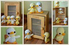 Family of amigurumi ducklings