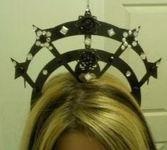 Gothic tribal style tiaracrown by PunchMonkeyDesigns on Etsy