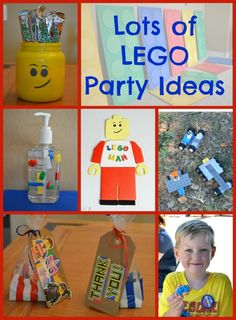 Here you'll find lots of Lego party ideas, to help you throw an awesome Lego birthday party, including Lego decorations, foods, and activities!
