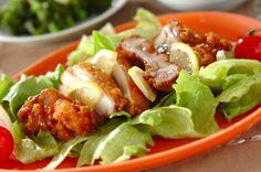 揚げ鶏レモンソースがけのレシピ・作り方 - 簡単プロの料理レシピ | E・レシピ
