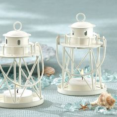By the Sea Lighthouse Tea Light Holder | Wedding Favors