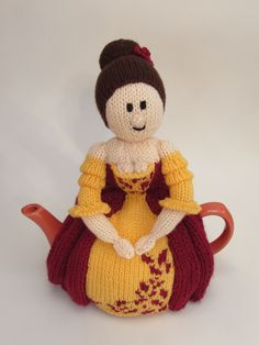 A Crinoline Lady Tea Cosy Knitting Pattern that can be made into a Crinoline Lady dolly - perfect for the young and old http://www.teacosyfolk.co.uk/Crinoline-Lady-Tea-cosy-p-172.php