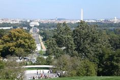 Washington DC. From the top of the hill at Arlington