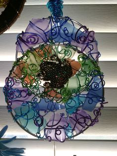 Frog in Lilly Pad Sun Catcher by LaurelcreationsArt on Etsy