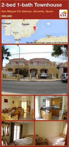 2-bed 1-bath Townhouse in San Miguel De Salinas, Alicante, Spain ►€90,000 #PropertyForSaleInSpain