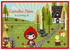 Little Red Riding Hood DIY Collection  Birthdays by Dragonflytwist,