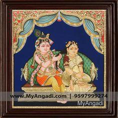 Jada Krishna Tanjore Painting  Call us or Whatsapp @ 9597999274 #TanjorePainting #Painting #MyAngadi