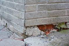 Call the concrete retaining wall contractors and make it last longer. Meme Design, Diy Design, Concrete Retaining Walls, Foundation Repair, House Foundation, Broken Window, Las Vegas Homes, Las Vegas Real Estate, Wood Siding