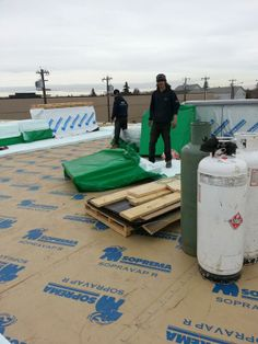 Edmonton Flat Roofing Project, Commercial Roof Replacement with 2 Ply Torch On and Sloped Insulation Package