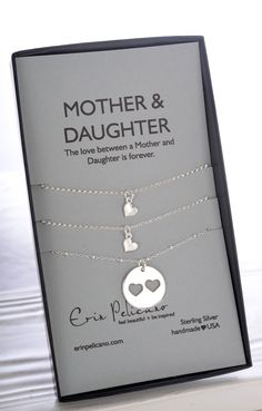 Mother Daughter Necklace Sets.  Gifts for your Sister, jewelry for your Mama. Mother of the Bride jewelry gifts!
