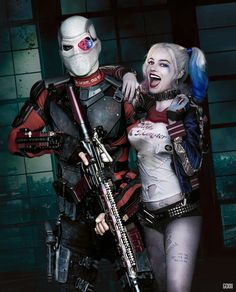 Suicide Squad / Deadshot and Harley by GOXIII
