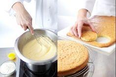 Recette de Pâte à génoise, Apprenez à faire une génoise, un biscuit léger qui servira de base à vos entremets et bûches de Noël.