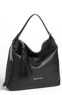 Free shipping and returns on MICHAEL Michael Kors 'Weston - Large' Shoulder Bag at Nordstrom.com. Lustrous pebbled leather shapes the slouchy silhouette of an street-chic shoulder bag topped with a playful tasseled zipper.